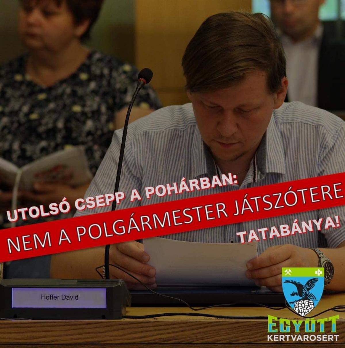 Tatabányai volt DK-s képviselő a kilépésének okairól: fenyegetőzés, demokrata szavakba öltöztetett diktatórikus módszerek, alkalmatlanság