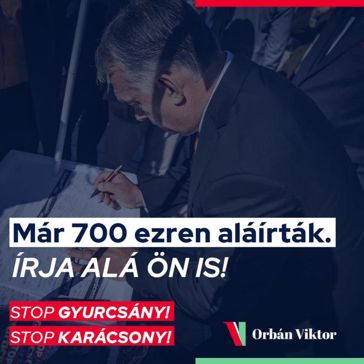Már 700 ezer magyar ember írta alá a STOP Gyurcsány, STOP Karácsony petíciót