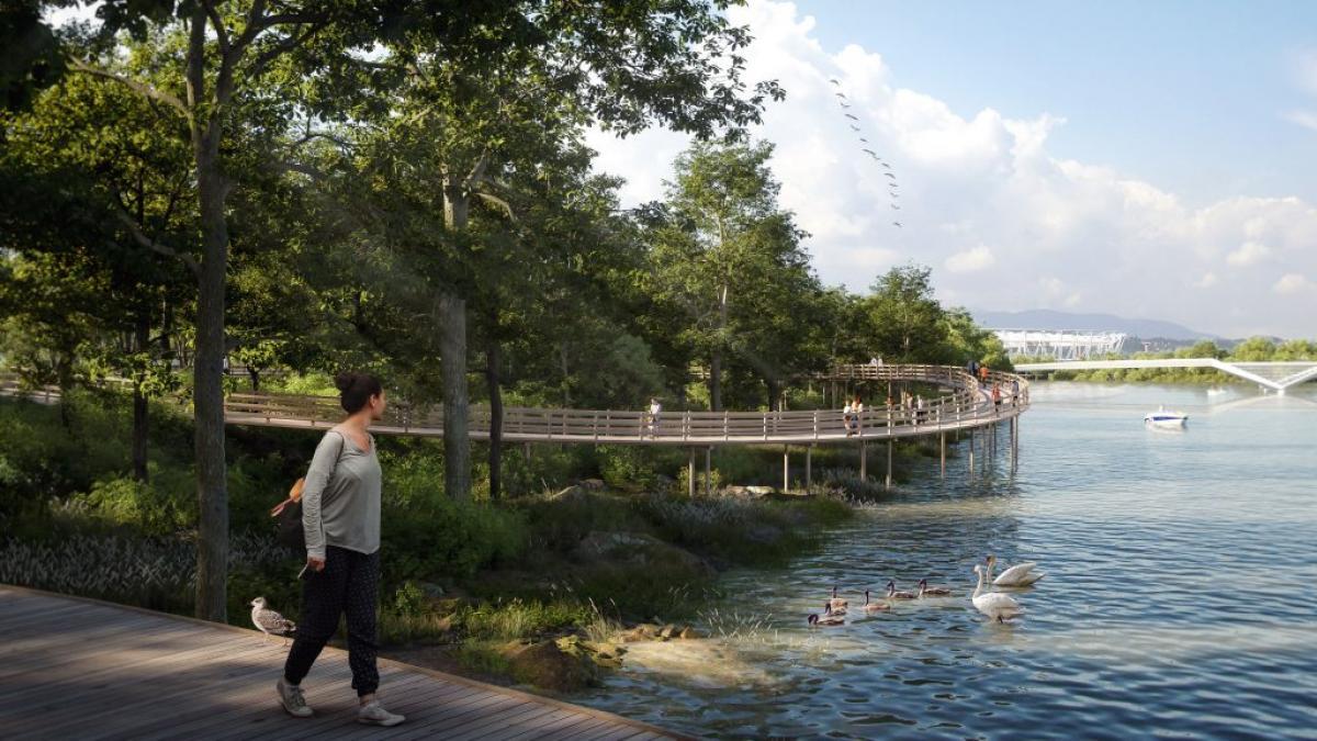 Ezt se Karácsony építi, hanem a kormány: 36 hektáros közpark épül a Csepel-szigeten
