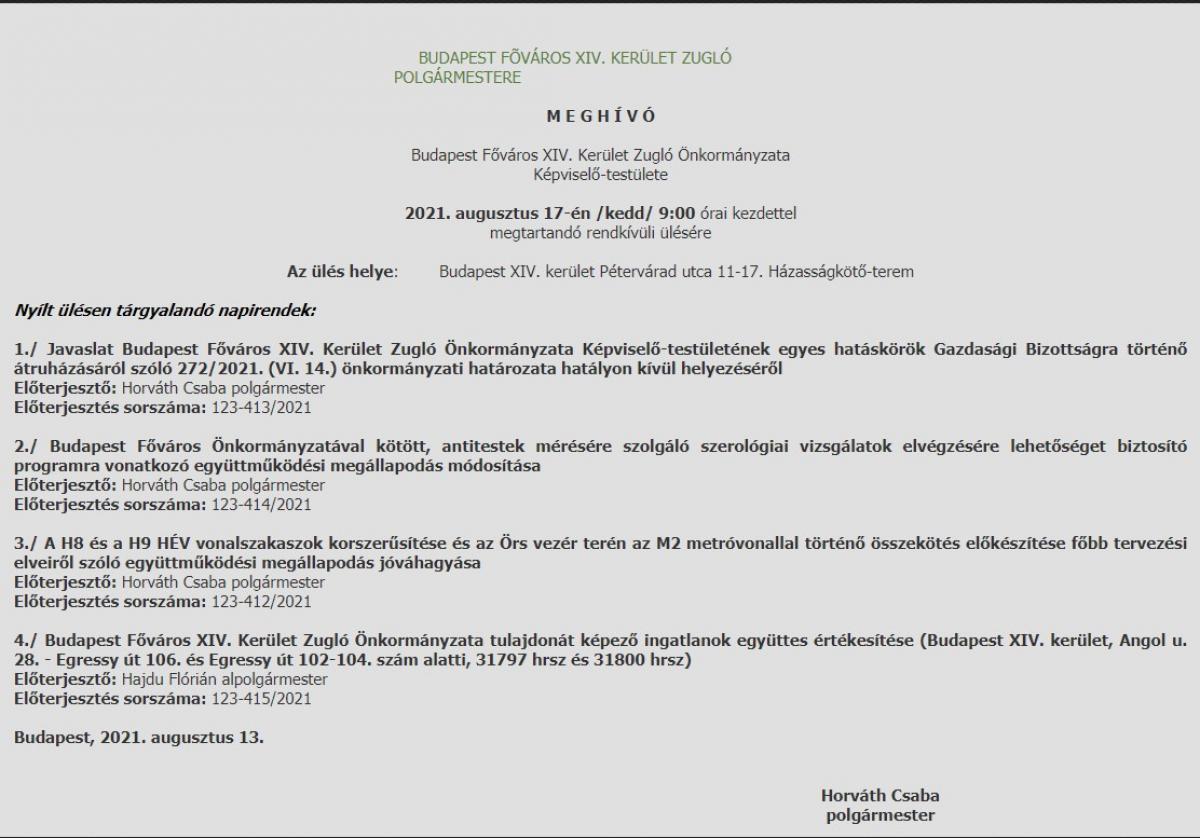 Miután ma Hadházy mutyival vádolta a zuglói szocikat, azok visszavonták az ingatlaneladást, de 4 nap múlva közgyűlés elé viszik