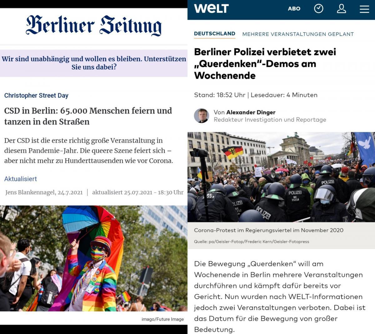 Németország: a Pride-felvonulás szabad, a korona-szkeptikus demonstráció betiltva