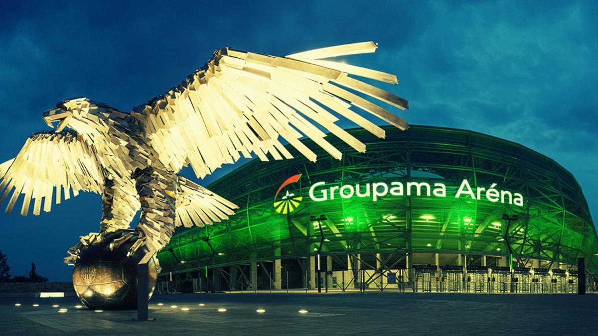 Szivárványszín helyett nemzeti trikolórba burkolózik a Fradi stadionja, a Groupama