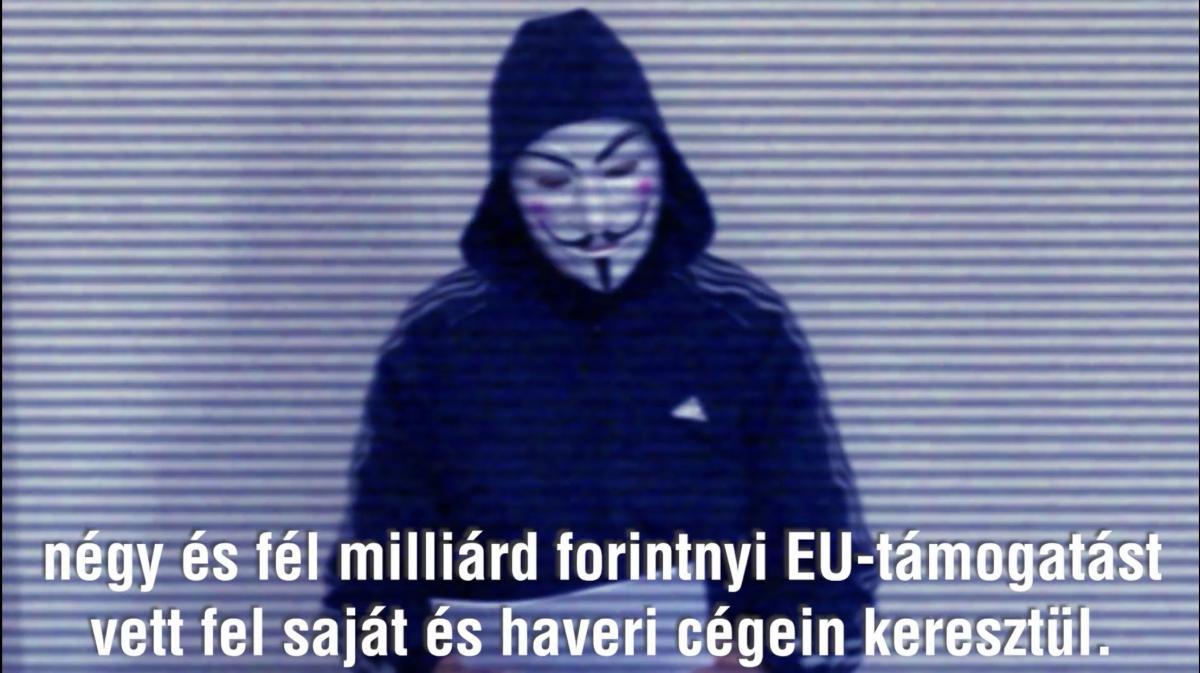 Anonymous: 4,5 milliárd forintnyi EU-s támogatást zsebelt be egy politikus és holdudvara