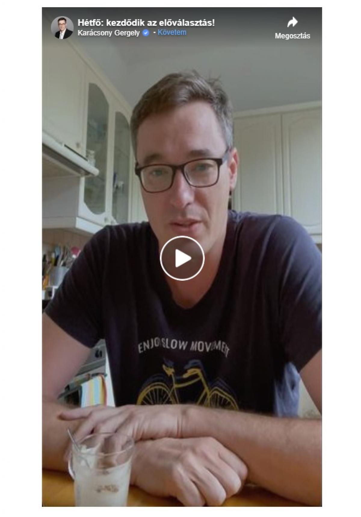 Az elgyengült Karácsony szójalattés videóval üzeni a lezsírozott előválasztás kezdetén: történelmi ez a nap