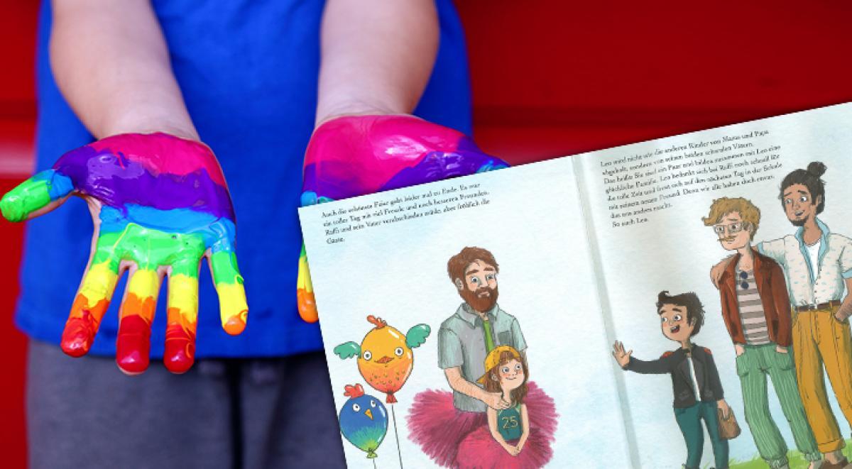 Gyermekeknek szóló homoerotikus reklámkönyv a Mc Donald's gyorsétteremlánc kínálatában Ausztriában