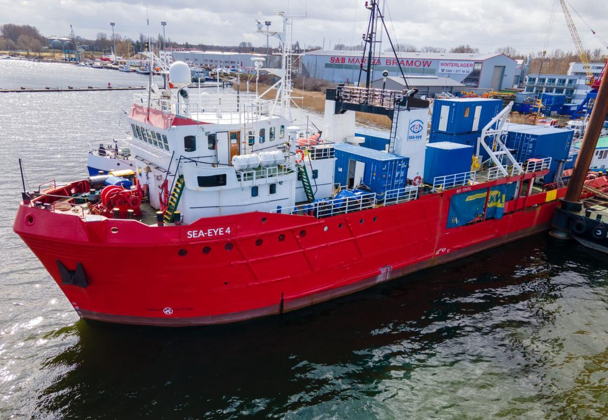 Nem engedélyezték a kihajózást a Sea-Eye 4 NGO-hajónak a palermói hatóságok a Földközi-tengerre