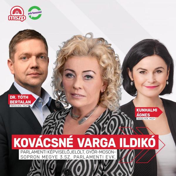 Kiszel Tünde leszedált hasonmását indítja az MSZP Győr-Moson-Sopron 3. sz. választókerületében