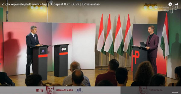 """""""Előválasztási vita"""" - Hadházy ideges lett, amikor a zuglói Tóth Csaba ügyeiről kérdezték"""