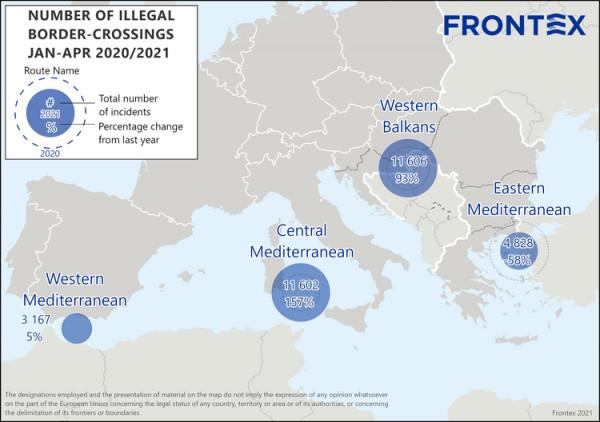 FRONTEX: újra emelkedik az illegális migrációs nyomás Európa külső határain