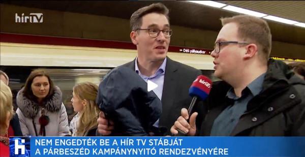A HírTV-t nem engedték be Karácsonyék kampánynyitójára
