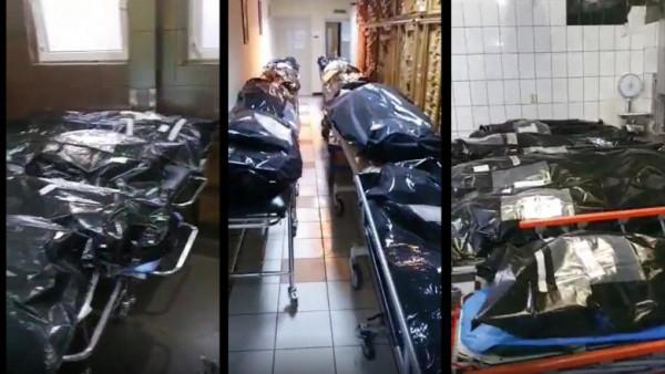Fekete hullazsákokban, a kórházi folyosókon fekszenek a halottak Romániában