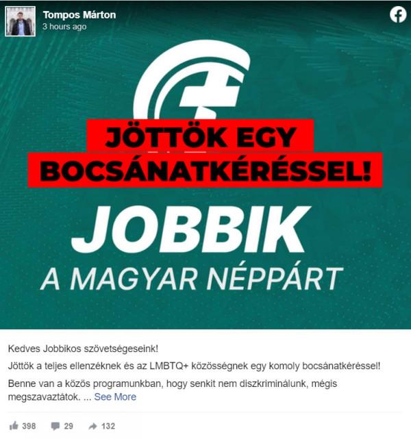A Momentum torkán megakadt, hogy a Jobbik megszavazta a pedofil-ellenes törvényt